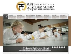 Screenshot - Website der Karateschule Kumadera